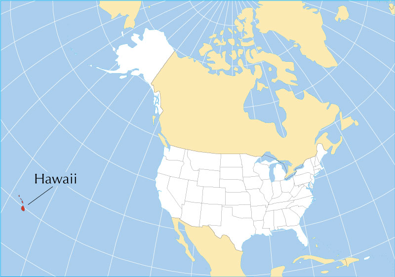 Hawaii-location-map