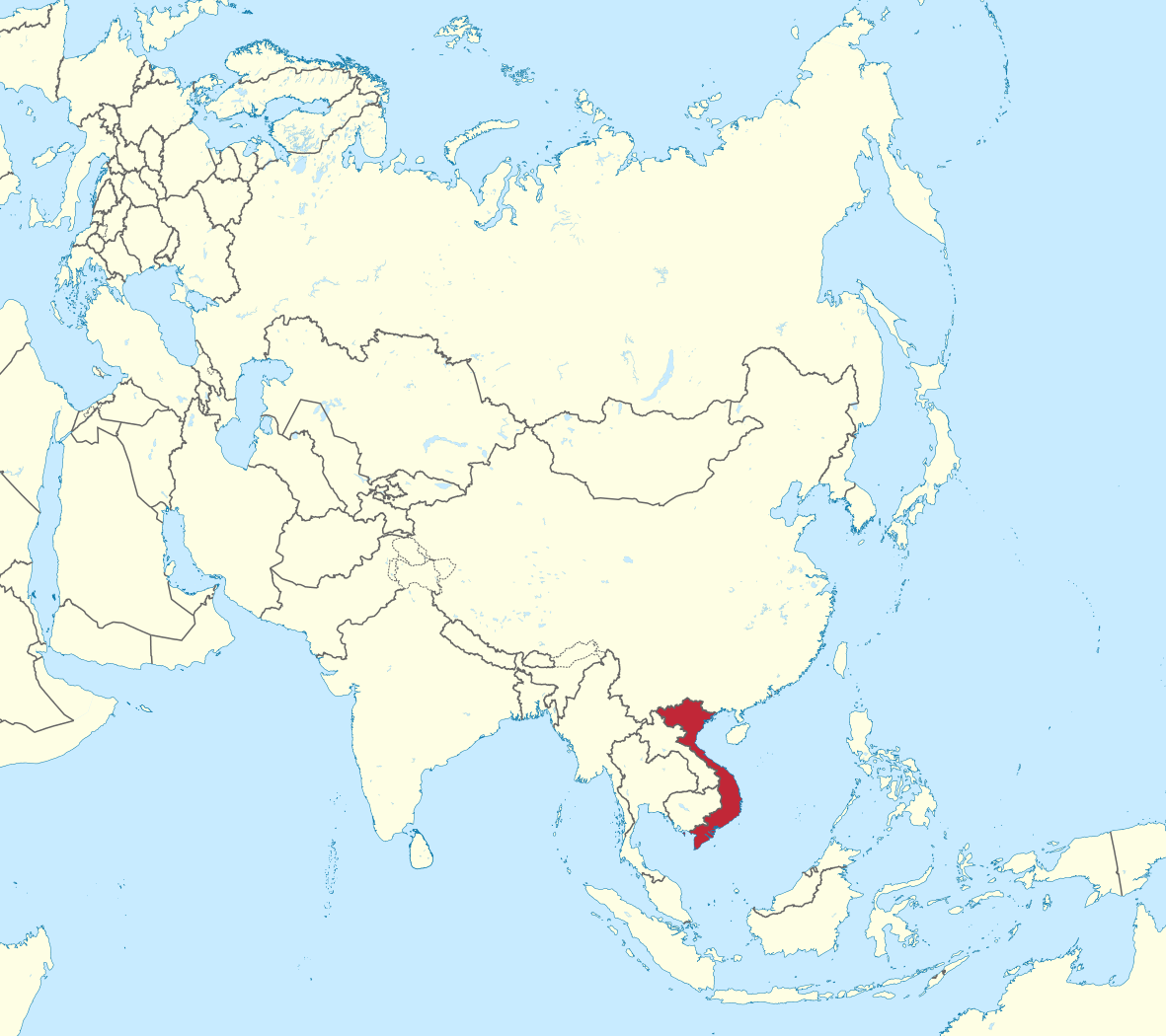 Vietnam map