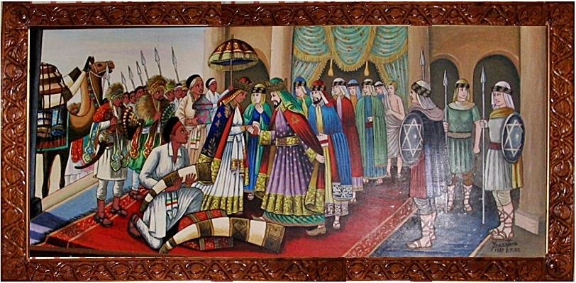 Painting of Queen-of-Sheba-and-King-Solomon